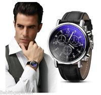 L/P 1 Herren Uhr Armbanduhr Quarzuhr Analoguhr Business Geschenk Schwarz Neu