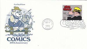 USAP096) FDC USA 1995, Comics 100th Anniversary, unaddressed