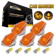 5pcs Cab marker Top Clearance 15442-E Amber Covers+5x5050 Amber 168 LED for Ford