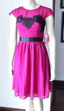 Elise Ryan  Magenta Dress with Black Lace Detail size 12 new with tag  #21