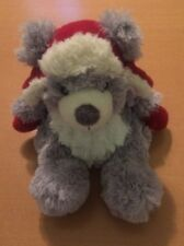 German G. Wurm Koln Gray Bear Plush With Hat and Mittens 7""