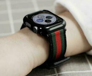 Apple Watch 5 4 3 Genuine Nylon Strap iWatch Band 38-40mm,42-44mm Black Red Grn