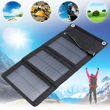5V 5W Portable Solar Panel Foldable Charger Power Bank USB For iphone Samsung