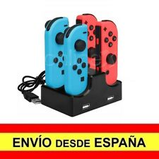 Base de Carga / Dock con 2 USB 2.0 para 4 JOY-CON de Nintendo Switch a3323