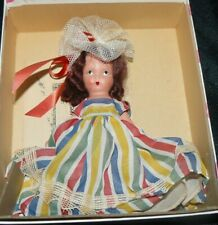 Vintage Nancy Ann Storybook Bisque Doll #22 Alice Sweet Alice with Original Box