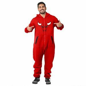 Klew NBA Basketball Men's Chicago Bulls Logo Suit, Red