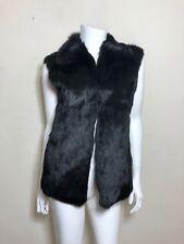 Adrienne Landau Rabbit Fur Vest in Black Size S
