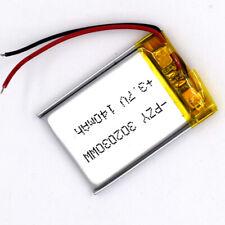 3.7V 140mAh 302030 Li-polymer Rechargeable Battery LiPo Cell for GPS Mp3 Reader