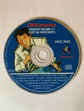 DK KARAOKE - 3042 - COUNTRY - DUST ON THEIR BOOTS - USED - RARE - LOT 350