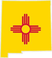 Sticker car moto map flag vinyl outside wall decal new mexico usa american