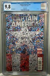 CAPTAIN AMERICA #19 STEVE EPTING collage variant last issue CGC 9.8 *NO RESERVE*