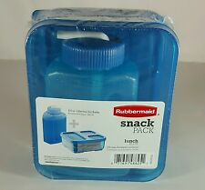 Rubbermaid Snack Pack Sandwich Container With 8.5oz Sip Water Bottle Blue