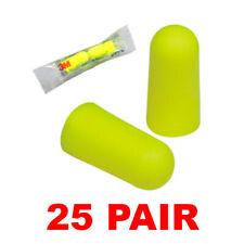 3M 312-1250 Noise Reduction 33dB Yellow Neon Foam Ear Plugs (25 Pair)