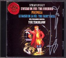 Yuri TEMIRKANOV Signiert STRAVINSKY Firebird Pucinella Fairy CD L'oiseau de Feu