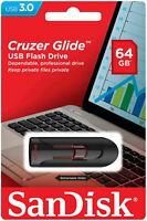 SanDisk Cruzer Glide 64GB 32GB 16GB USB 3.0 Flash Drive Thumb Stick Memory