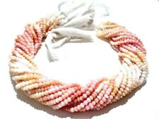 """1 Strand Peruvian Pink Opal Rondelle Faceted 4-4.5mm Gemstone Beads 13""""Inch"""