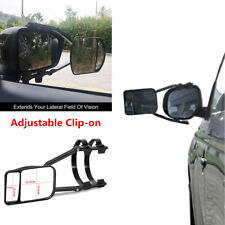 Car Truck Van Trailer Towing Mirror Clip-on Adjustable Extension Rearview Mirror (Fits: Commercial Chassis)
