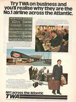 1977 Original Advertising' Vintage American Twa Trans World Airlines n.1