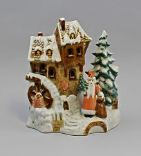 Porcelana figura casa navidad molino ens b17, 5cm, h21cm 9941488