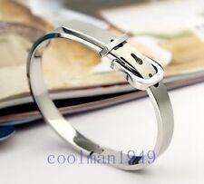 Womens Girls Ladies Belt Buckle Stainless Steel Bracelet Bangle SK13