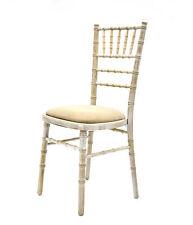 New Limewash Chiavari Chairs with Ivory Seat Pad, Limewash wedding chairs