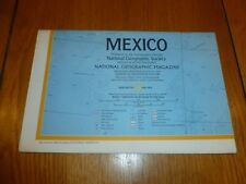 MEXICO - National Gegraphic MAP - ATLAS PLATE ? - May 1973