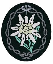Gebirgsjager Edelweiss BEVO Arm Patch - WW2 Repro German Army Badge Mountain