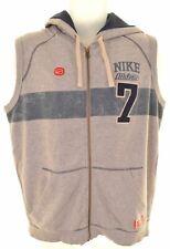 NIKE Mens Hoodie Sweater Sleeveless UK 39/41 Medium Grey Cotton  IQ08