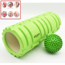 2 in 1 Foam Roller Exercise Trigger Point Grid Physio Massage Ball Green S247