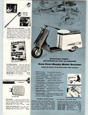 1959 PAPER AD Ever-Ready Motor Scooter 4 HP 4 Cycle Continental Engine