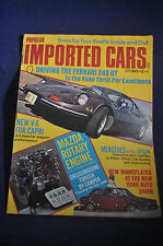 September 1972 Imported Cars Magazine Mazda Rotaru, Ferrarri, Mercedes, Capri
