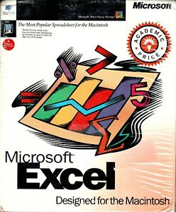 """Microsoft Excel Version 5.0 For Mac and Power Mac New 3.5"""" Floppy Mac 7, 8, 9"""