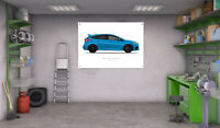 Mk3 Ford Focus RS Garage Workshop A1 Banners Posters - Side View (Choose Colour)