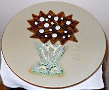 Signed Oriental Japanese/Chinese Abstract Studio Art Pottery Charger