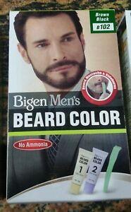 1 PC x 40 Gram Bigen Men's Beard Color Brown Black B102 | No Ammonia