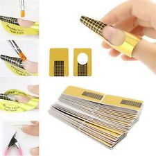 100pcs Acrylic UV Gel Guide Extension Nail Art Tips Forms Stickers