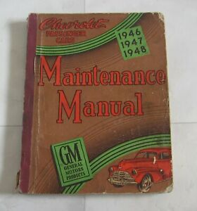 Chevrolet Passenger Cars 1946-1949 Maintenance Repair Reference Manual GM