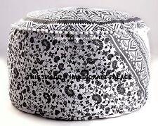 Bohemian Ombre Mandala Pouf Ottoman Floor Pillow Vintage Indian Chair Bean Bag