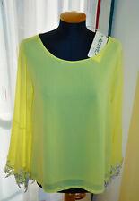 Made in Italy gelbe Bluse transparent Gr. 42 Neu mit Etikett