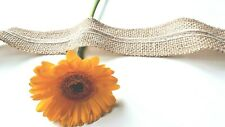 Natural Jute Hessian Ribbon Trim Rustic 45mm wide Wedding Buttons Bows Christmas