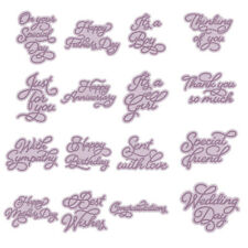 Word Metal Cutting Dies Stencil DIY Scrapbooking Paper Card Crafts Embossing