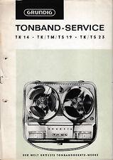 Service Manual-Anleitung für Grundig TK 14,TK/TM/TS 19,TK/TS 23