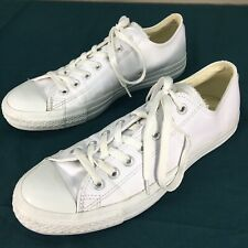 Used White Leather Converse Chuck Taylor Shoes Sneakers Mens sz 9 Womens sz 11