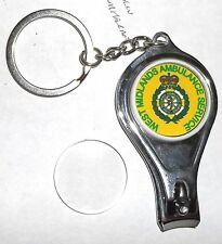 West Midlands Ambulance Service key ring,nail clipper,bottle opener.Free post.