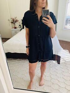 Roxy Overswim Short Dress Navy Size Small