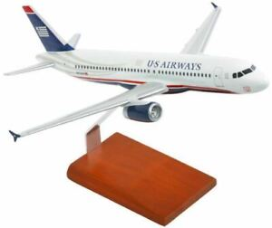 "Airplane US Airways Airbus A320-200 Final Livery 14.75""  Wooden Model Aircraft"