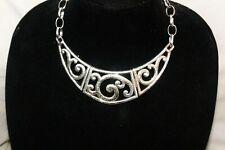 NWT Authentic Brighton Vienna Hammered Silver Collar Necklace $88