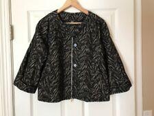 "BCBG Max Azria Black ""Tara"" Textured Zip-Up Jacket, Size Small"