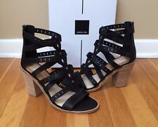 DOLCE VITA 'Lain' Leather Block Heel Gladiator Sandals NEW size 9M
