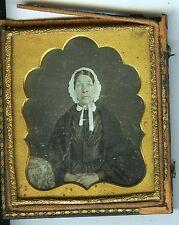 DAGUERREOTYPE union case portrait une femme prend la pose 1/6 circa 1860